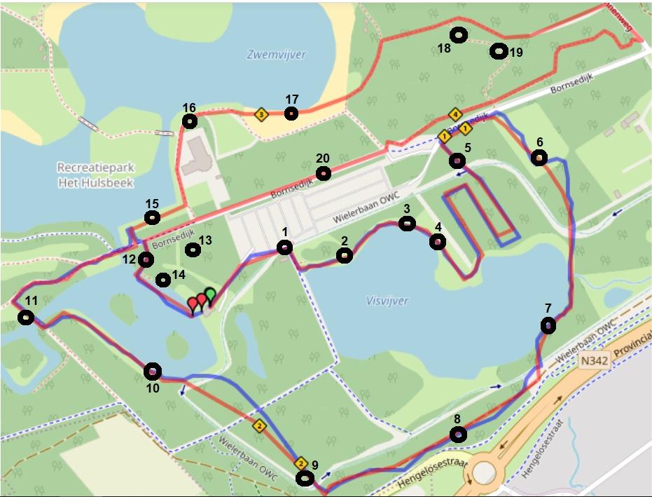 special hero route kaart